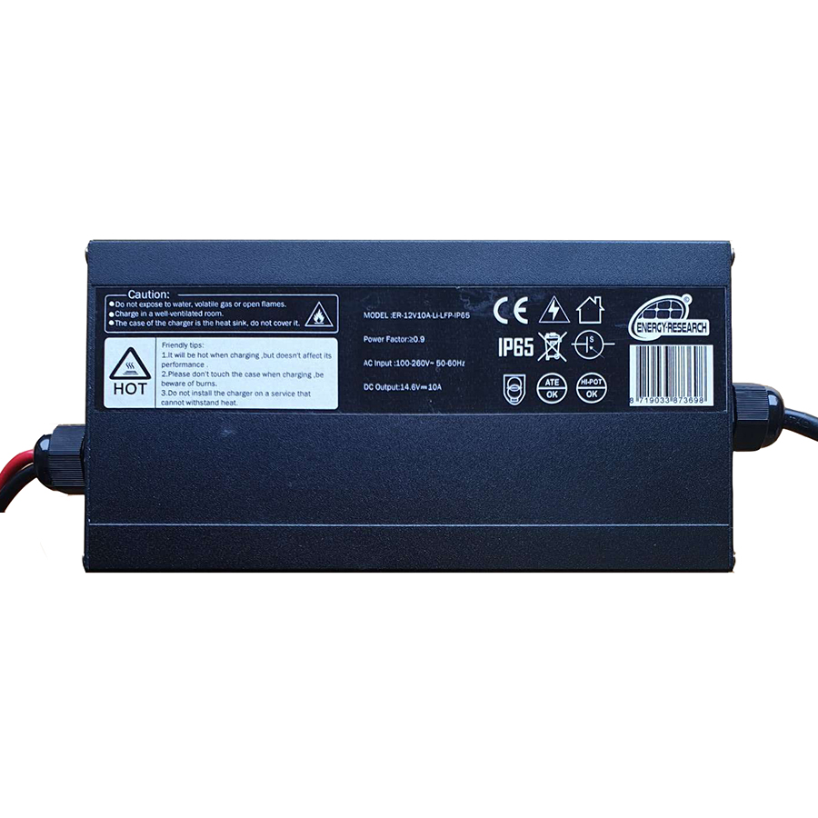 Lithium-LFP charger 12V 10A IP65